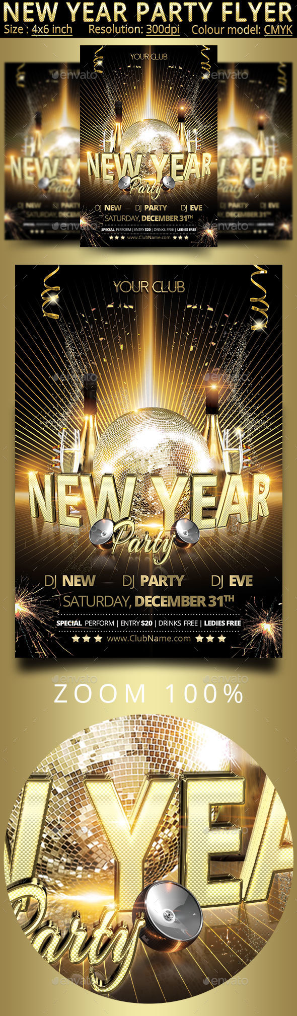New Year Christmas Party Flyer - Events Flyers