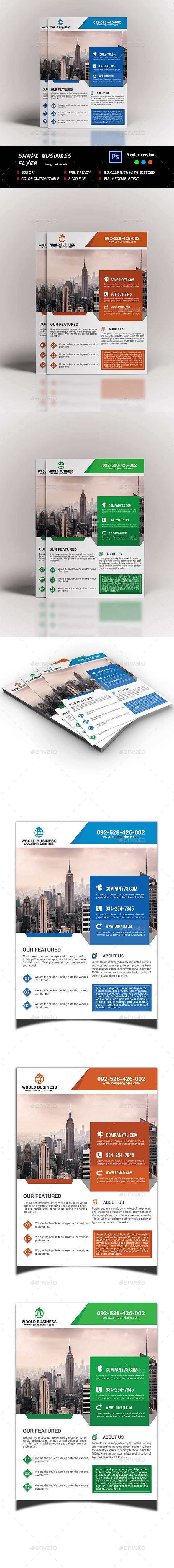 Shape Business Flyer - Corporate Flyers
