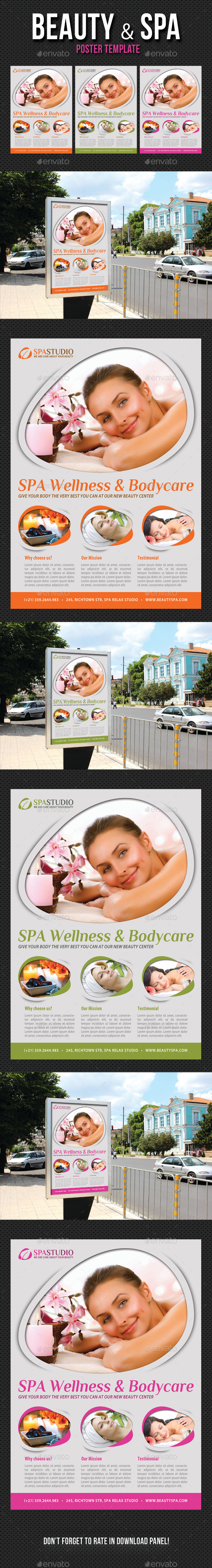 Beauty and Spa Poster Template V08 - Signage Print Templates