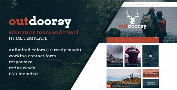 Outdoorsy - Adventure Tours and Travel HTML Template - Travel Retail