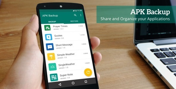APK Backup - Android App 1.3 - CodeCanyon Item for Sale