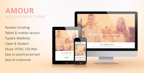 Amour- Wedding Muse theme - Personal Muse Templates