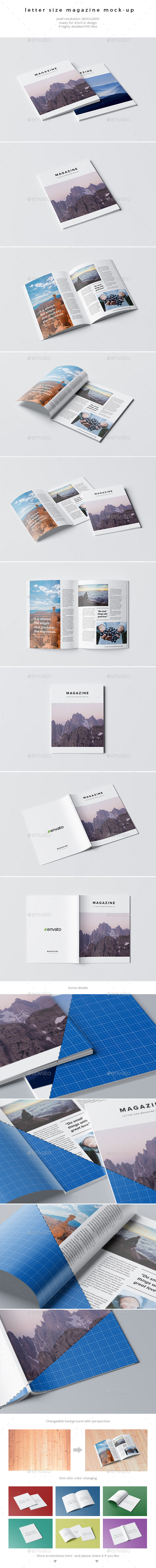 Letter Size Magazine Mock-Up