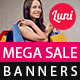 Mega Sale Banner Templates - GraphicRiver Item for Sale