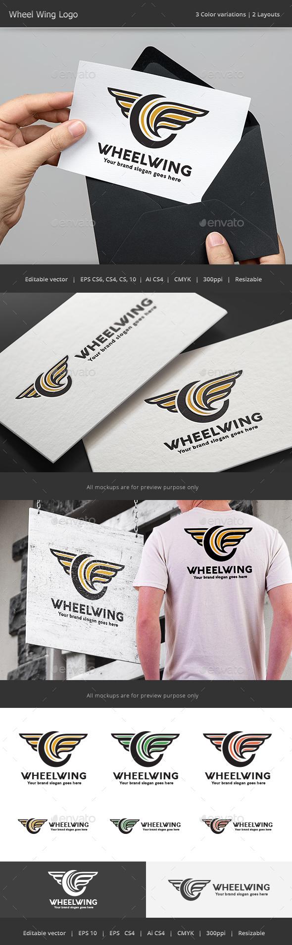 Wheel Wing Logo - Abstract Logo Templates