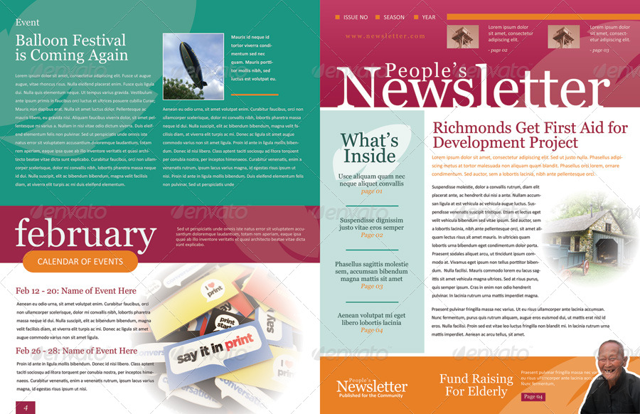 Amazing Screenshots/01_frontside ... On Example Of Newsletter Templates