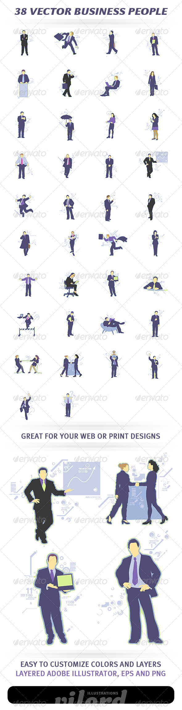 38 Vector Business People - People Characters
