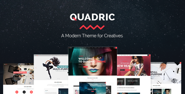 Quadric - A Modern Theme for Creatives - Creative WordPress