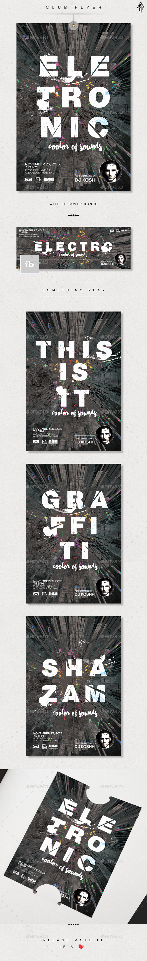 Club DJ Flyer Facebook Cover - Events Flyers