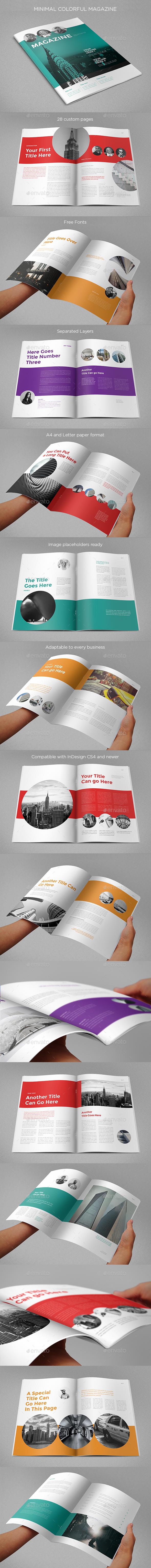 Minimal Colorful Magazine - Magazines Print Templates