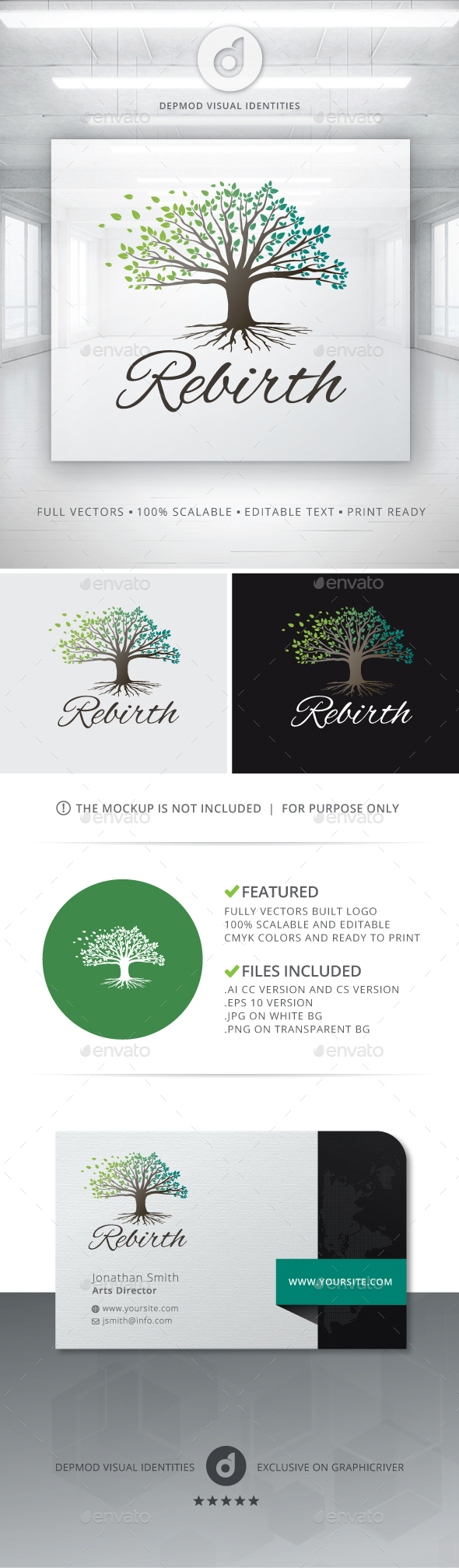 Rebirth Logo - Nature Logo Templates