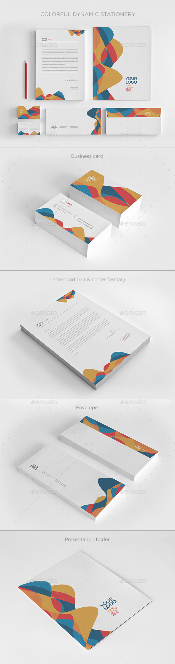 Colorful Dynamic Stationery - Stationery Print Templates