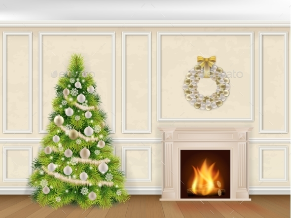 Christmas Interior in Classic Style - Christmas Seasons/Holidays