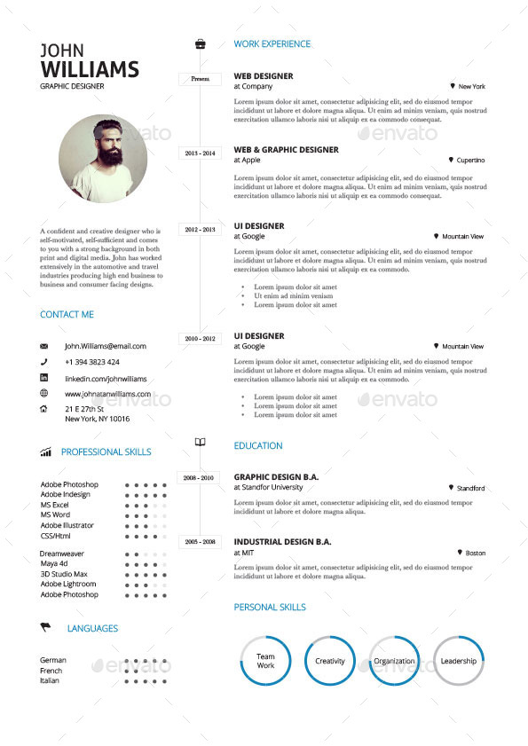 clean resume vol 3 by paolo6180 graphicriver