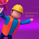 Geometric Low Poly Worker 02 - 3DOcean Item for Sale