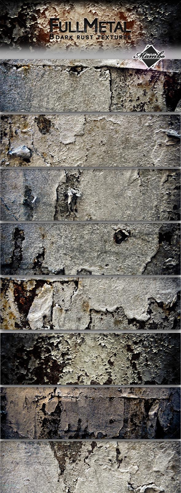 FullMetal - Dark rust textures - Industrial / Grunge Textures