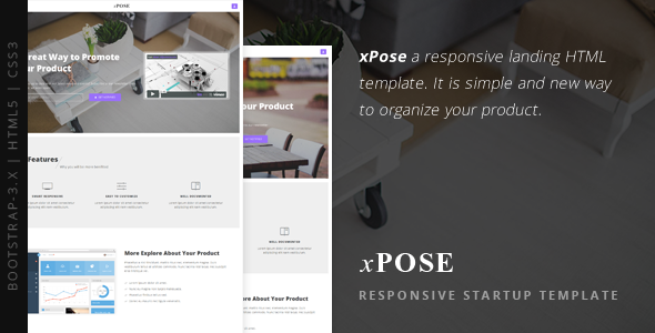 xPose – Responsive Startup Landing Page