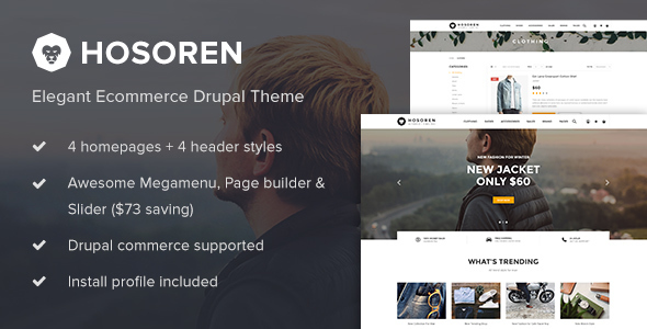 Hosoren - Elegant Ecommerce Drupal Theme - Shopping Retail