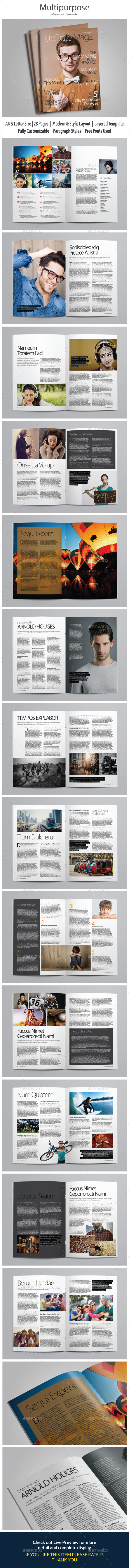 Indesign Magazine Template vol 3 - Magazines Print Templates
