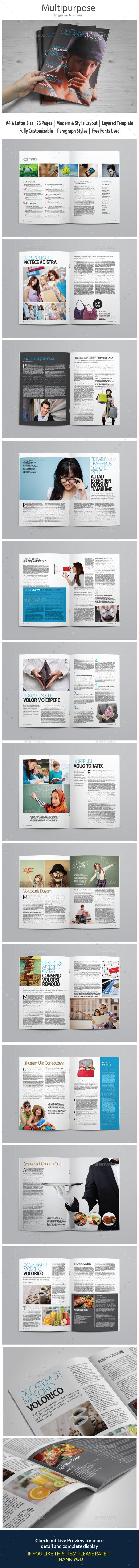 Indesign Magazine Template vol 2 - Magazines Print Templates