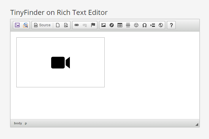 TinyFinder Web File Manager, File Browser for CKEditor