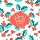 Mistletoe Holiday Card. - GraphicRiver Item for Sale