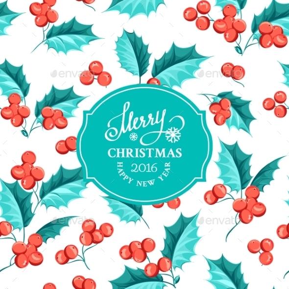 Mistletoe Holiday Card. - Decorative Symbols Decorative