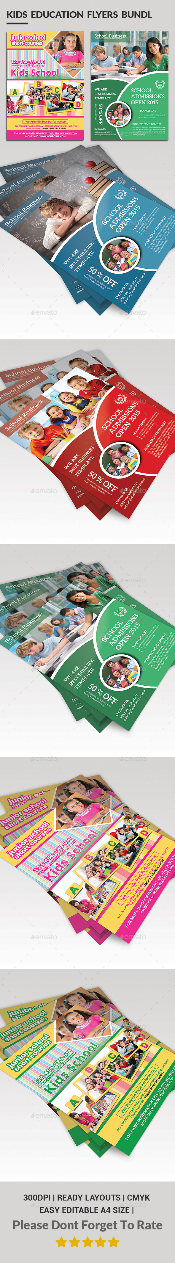 School Education Flyer Bundle - Corporate Flyers