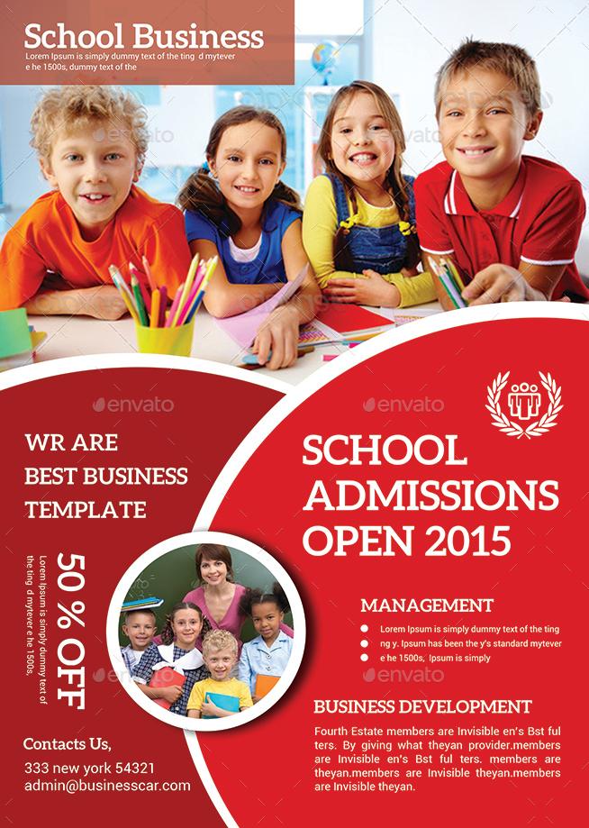 school education flyer bundle by afjamaal