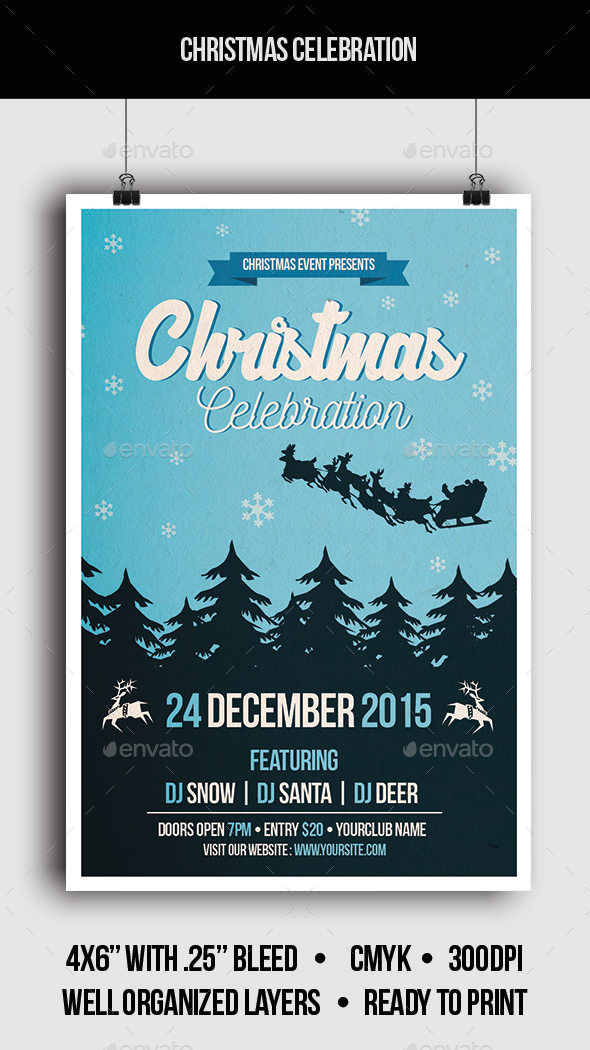 Christmas Celebration - Flyer - Clubs & Parties Events