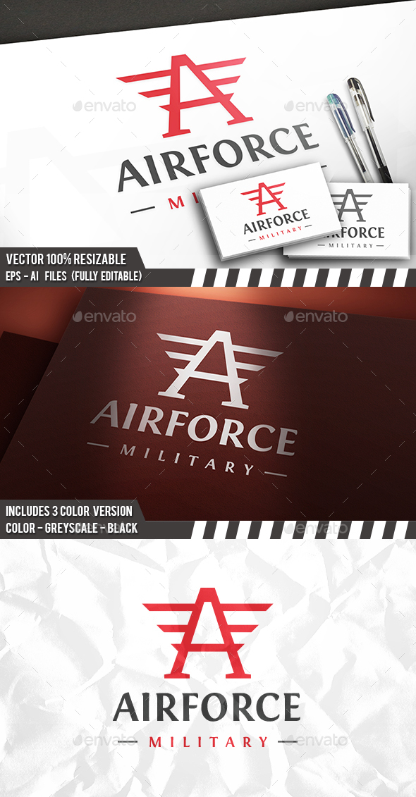 Air Force Logo - Letters Logo Templates