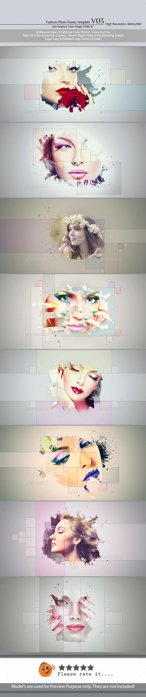Fashion Photo Frame Template v03 - Photo Templates Graphics