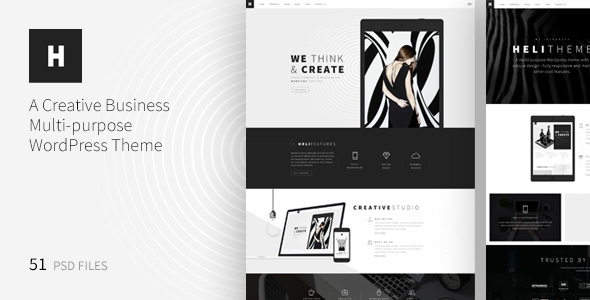 Heli - A Creative Multipurpose PSD Template - Creative PSD Templates