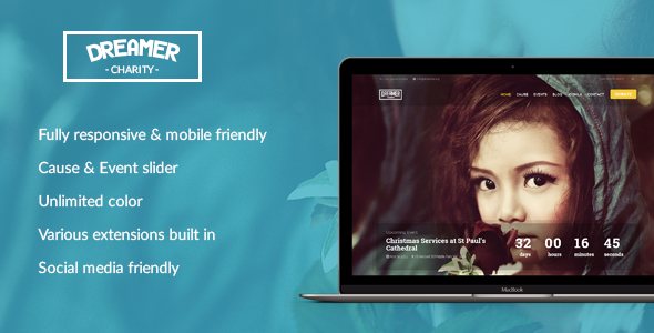 Dreamer – Multipurpose Charity Joomla Template