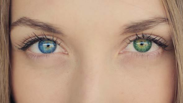 Woman With Blue And Green Eyes- Heterochromia by Ilya2k ...