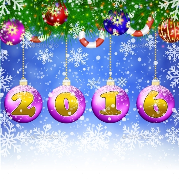 Happy New Year Celebration Background  - Christmas Seasons/Holidays