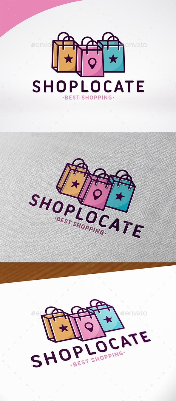 Shopping Locator Logo Template - Symbols Logo Templates