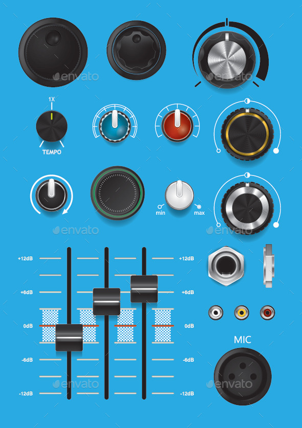 Control Knobs 2 - Web Elements Vectors