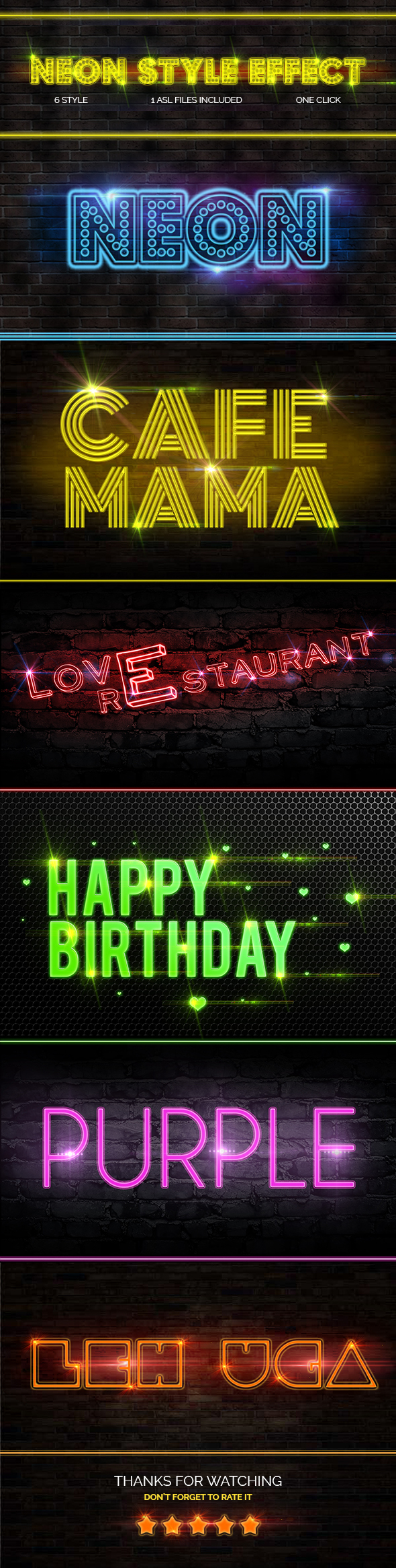 Neon Style Text Effect - Text Effects Styles