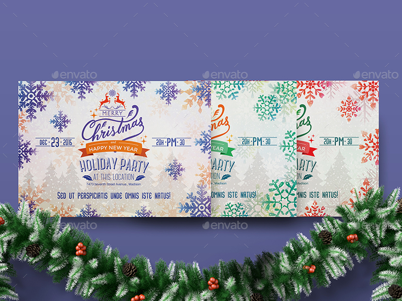 Holiday Party Flyer Template By Wutip  Graphicriver