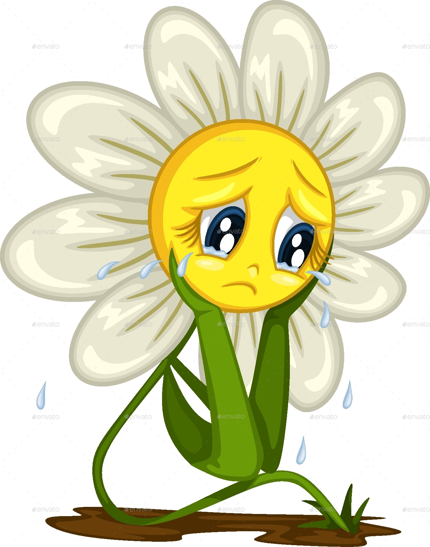 Cartoon daisy stickers for different situations by anniesart cartoon daisy stickers for different situations izmirmasajfo