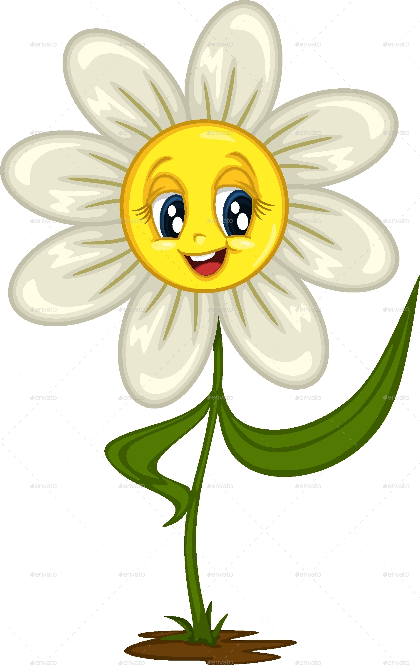 Cartoon Daisy Stickers for Different Situations