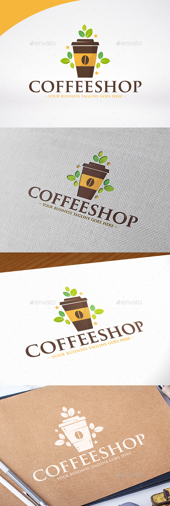 Coffee Shop Logo Template Design - Food Logo Templates