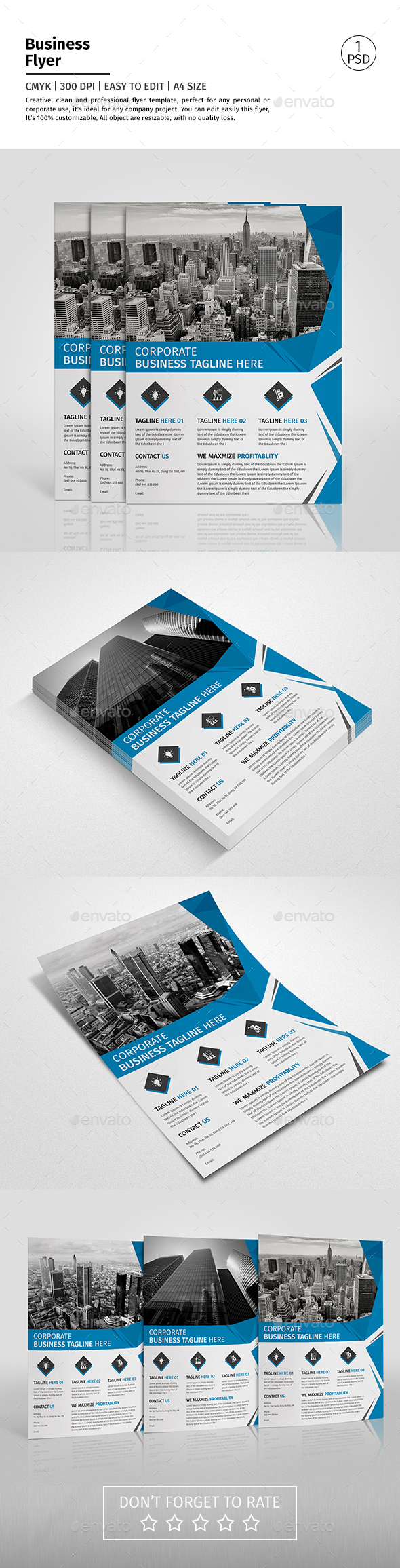 A4 Corporate Business Flyer Template Vol 09 - Corporate Flyers