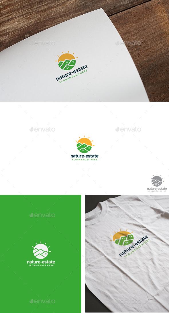 Sun Real Estate Logo - Buildings Logo Templates