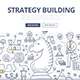 Strategy Building Doodle Concept - GraphicRiver Item for Sale