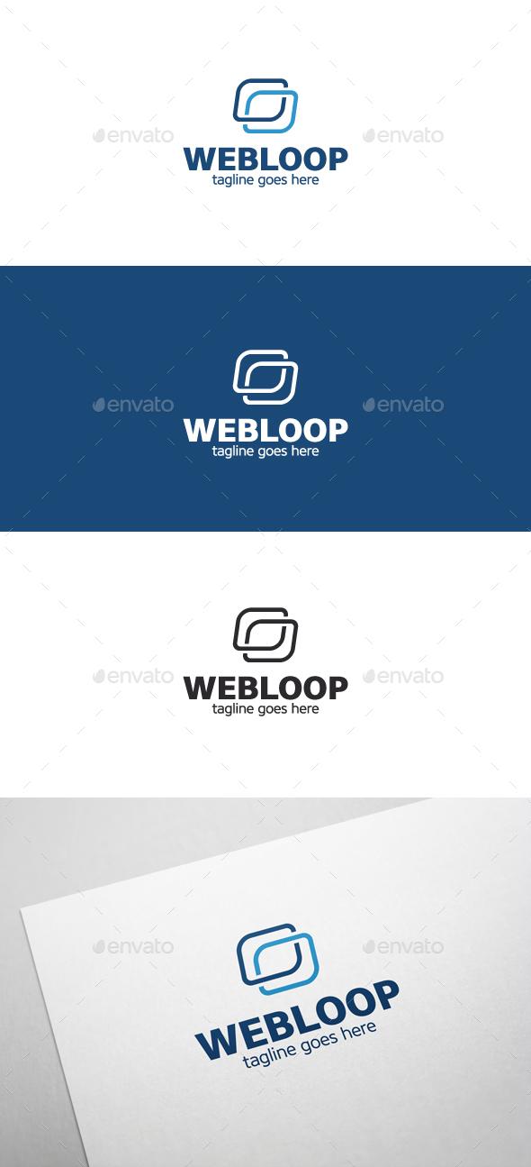 Web Loop Logo - Symbols Logo Templates