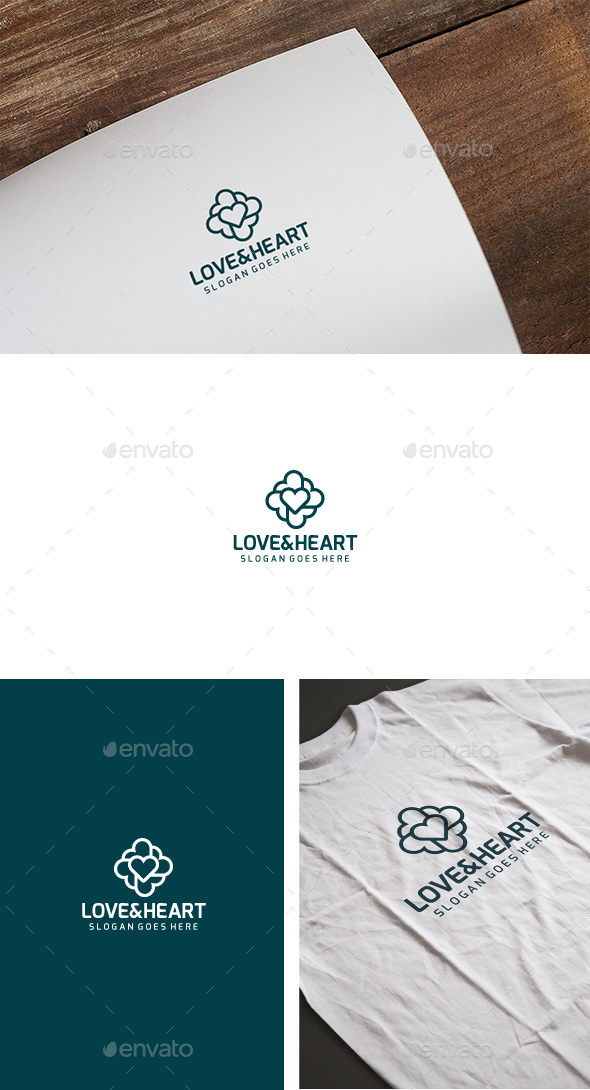Love Heart Logo - Symbols Logo Templates