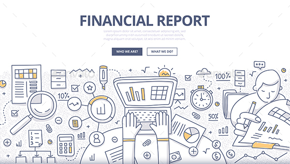 Financial Report Doodle Concept - Concepts Business