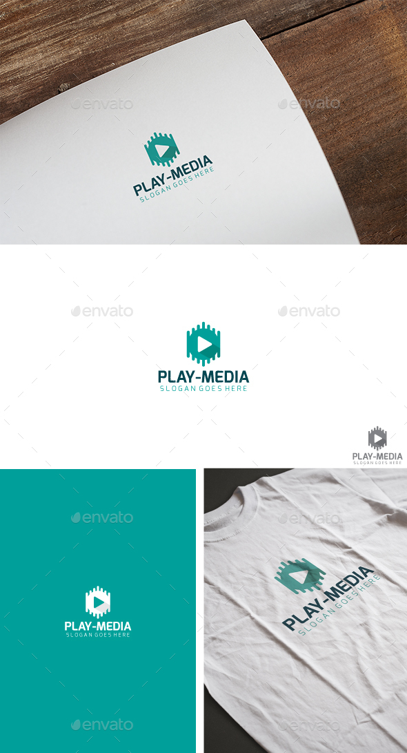 Play Media Logo - Symbols Logo Templates